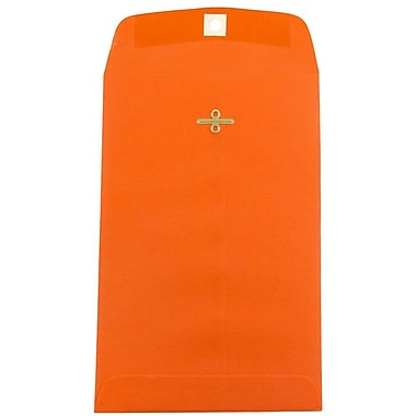 JAM Paper® 6 x 9 Open End Catalog Envelopes with Clasp Closure, Brite Hue Orange Recycled, 10/pack (V0128127B)