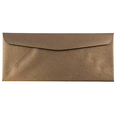 JAM Paper® #10 Business Envelopes, 4 1/8 x 9 1/2, Stardream Metallic Bronze, 25/pack (V018286)