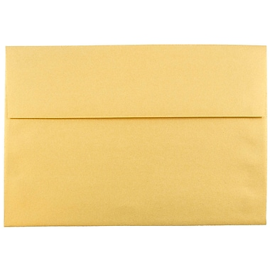 JAM Paper® A8 Invitation Envelopes, 5.5 x 8.125, Stardream Metallic Gold, 25/pack (V018295)