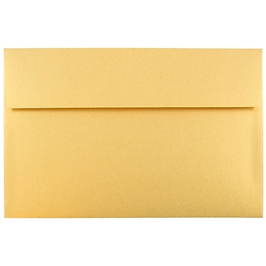 JAM Paper® A10 Invitation Envelopes, 6 x 9.5, Stardream Metallic Gold, 25/pack (V018299)
