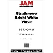 "JAM Paper® 11"" x 17"" Strathmore Coverstock, Bright White, 250/Ream"
