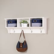 "Prepac™ Sonoma Entryway Cubbie Shelf, 48"" x 11.5"", White"