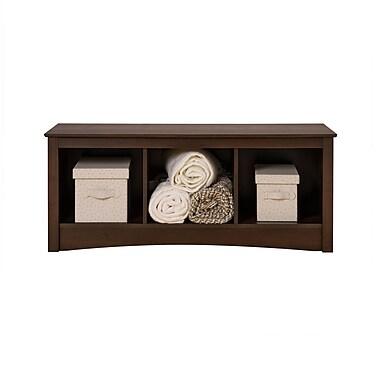 Prepac™ Composite Wood Cubbie Bench, Espresso