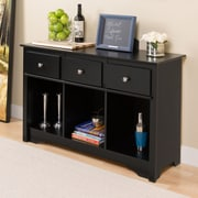 "Prepac™ 30.25"" Living Room Console, Black"