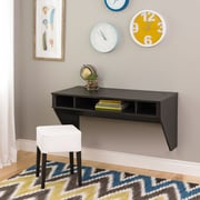 Prepac Standard Designer Floating Desk, Ebony (HEHW-0500-1)