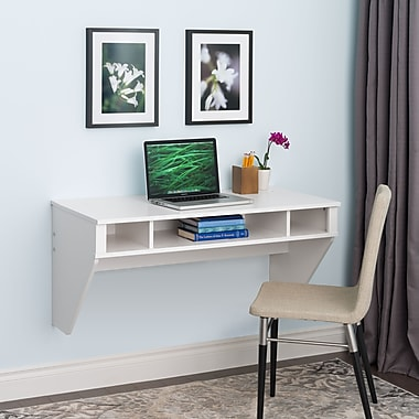 Prepac Standard Designer Floating Desk, White (WEHW-0500-1)