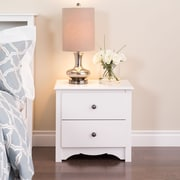 "Prepac™ 21.75"" Monterey 2 Drawer Nightstand, White"