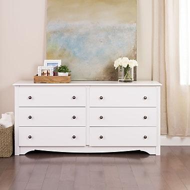 PrepacMD – Commode à 6 tiroirs Monterey, blanc, 29 po