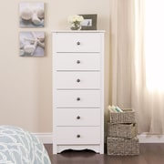 "Prepac™ 53.25"" Monterey Tall 6 Drawer Chest, White"