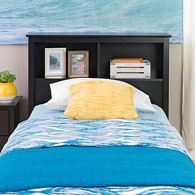 PrepacMC – Tête de lit à bibliothèque pour lit une place de 44,75 po, noir