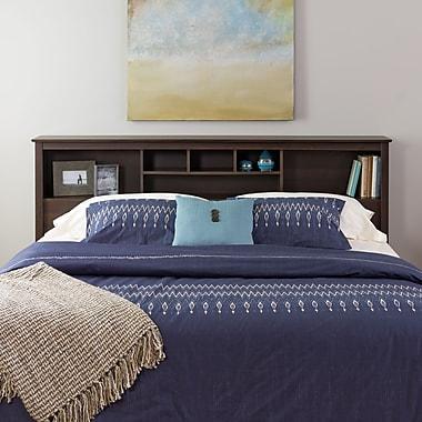 PrepacMC – Tête de lit bibliothèque pour un très grand lit, 81 1/2 po, fini espresso