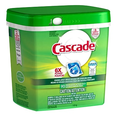 Cascade ActionPacs Dishwasher Detergent, 90/Pack