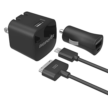 Digipower 1 Amp 30 Pin Micro Wall and Car Charger Kit