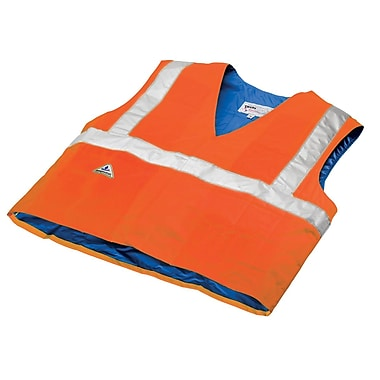 TechNiche HYPERKEWL™ Evaporative Cooling Traffic Safety CSA Class II Compliant Vest, Hi-Viz Orange, S/M