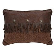 HiEnd Accents Del Rio Faux Leather Lumbar Pillow