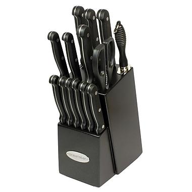 Oceanstar Design Contemporary 15 Piece Knife Block Set; Elegant Black