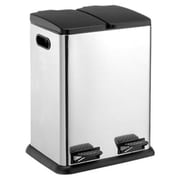 OIA Recycling Bins 10.57 Gallon Step-On Stainless Steel Trash Can