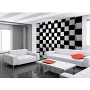 WallPops! Black & White Squares Wall Mural