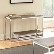 Steve Silver Furniture Lucia Console Table; Grey / Brown