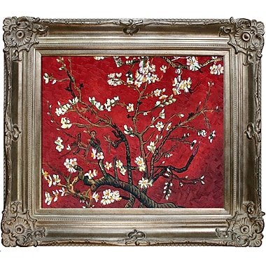 Tori Home Branches of an Almond Tree in Blossom Van Gogh Framed Original Painting in Red