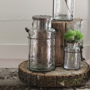 Creative Co-Op Glass and Metal Vase