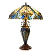 Chloe Lighting Liaison 24.75'' H Table Lamp with Bowl Shade
