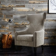TOV Gramercy Embroidered Wing Arm Chair