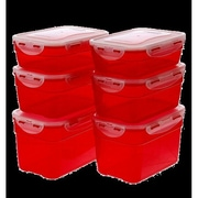 Lock & Lock 12 Piece Storage Container Set; Red