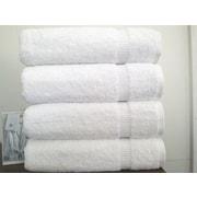 Makroteks Textile L.L.C. Turkish Cotton Bath Towel (Set of 4); White