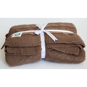 YourLovelyBedding Certified Organic Cotton Cable Knit Throw; Chocolate