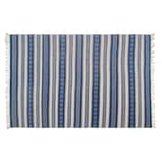 Fab Rugs Estate Hand-Woven Blue/White Indoor/Outdoor Area Rug; 5' x 8'