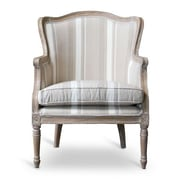 Wholesale Interiors Baxton Studio Charlemagne Traditional French Barrel Chair