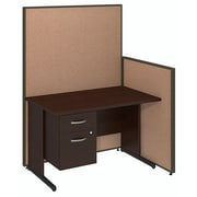 Bush Business Furniture 48W C-Leg Desk with 3/4 Pedestal and ProPanels, Harvest Tan (PPC019HT)