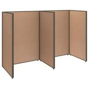 Bush Business Furniture ProPanels 2 Person Open Cubicle Office, Harvest Tan (PPC002HT)