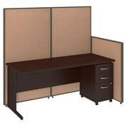 Bush Business Furniture 72W C-Leg Desk and 3 Drawer Mobile Pedestal with ProPanels, Harvest Tan (PPC022HT)
