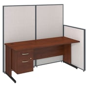 Bush Business Furniture 72W C-Leg Desk with 3/4 Pedestal and ProPanels, Light Gray (PPC017LG)