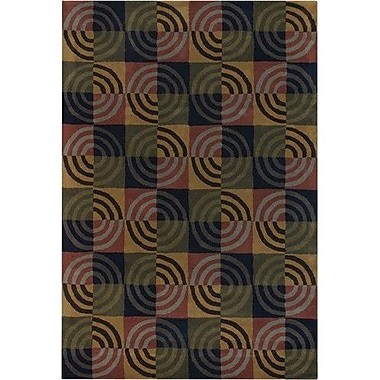 Chandra Bense Garza Green/Tan Area Rug; 7'9'' x 10'6''