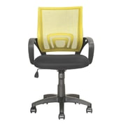 dCOR design Workspace Mid-Back Mesh Task Chair; Yellow