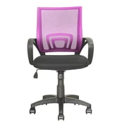 dCOR design Workspace Mid-Back Mesh Task Chair; Pink