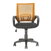 dCOR design Workspace Mid-Back Mesh Task Chair; Orange