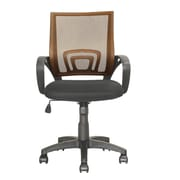 dCOR design Workspace Mid-Back Mesh Task Chair; Light Brown