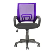 dCOR design Workspace Mid-Back Mesh Task Chair; Purple