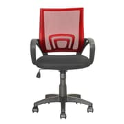 dCOR design Workspace Mid-Back Mesh Task Chair; Red