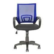 dCOR design Workspace Mid-Back Mesh Task Chair; Navy Blue