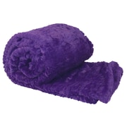 BOON Throw & Blanket Air Brushed Colleen Faux Fur Throw Blanket; Purple
