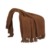 BOON Throw & Blanket Space Yarn Knitted Throw Blanket; Chocolate