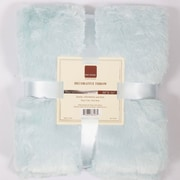 BOON Throw & Blanket Oversized Double Sided Faux Fur Throw; Light Blue