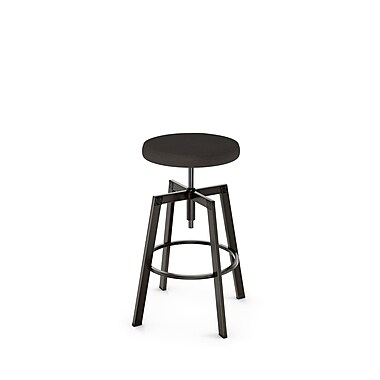 Amisco (42563-WE/1B51HCF4) Quest Screw Metal Stool, Gun Metal Finish/Dark Grey