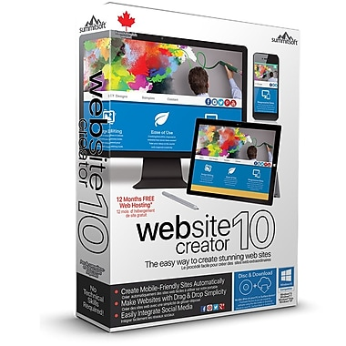 Summitsoft Website Creator 10, Windows, Bilingual
