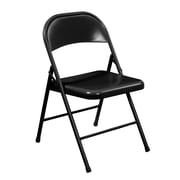 National Public Seating Commercialine All-Steel  Folding Chair, Black 4/Pack  (910/4)